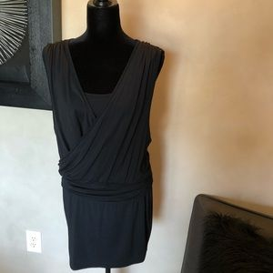 Victoria's Secret Black Wrap Front Mini Dress